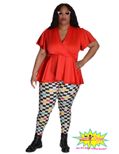 Load image into Gallery viewer, TNT RED RUFFLE TOP