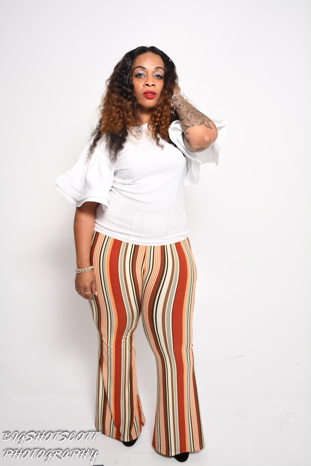 TNT BOLD BRUNT ORANGE WIDE LEG PANTS