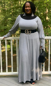 TNT GRAY RELAX MAXI DRESS