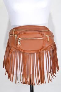 TNT Camel Fringed Fanny Pack