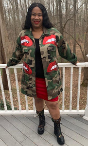 TNT ARMY RED LIP JACKET