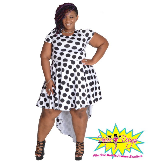 TNT POLKA DOT HIGH LOW DRESS