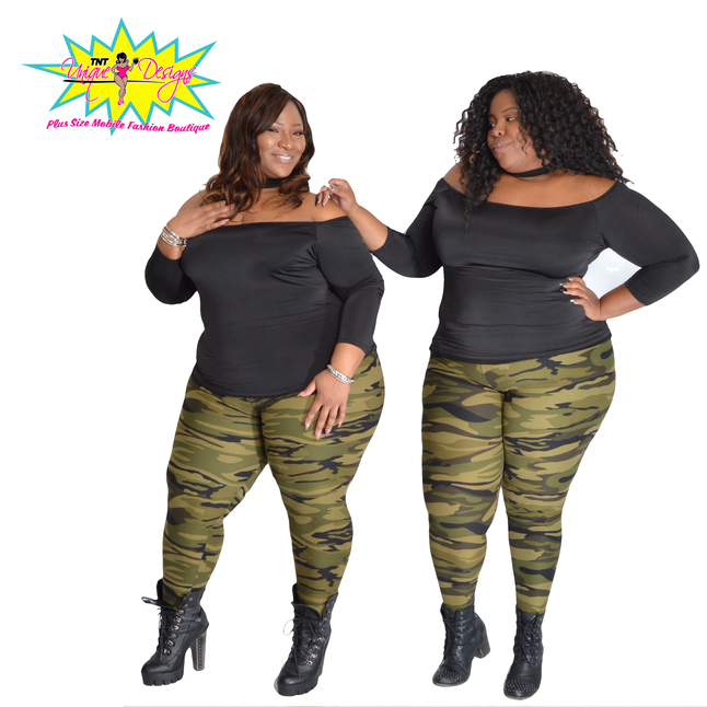 TNT GREEN ARMY LEGGINGS