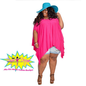 TNT PINK FLOWY TOP