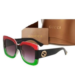 3e0eae63fe025 TNT RED   GREEN SQUARE GUCCI INSPIRED SUNGLASSES – TNT UNIQUE DESIGNS