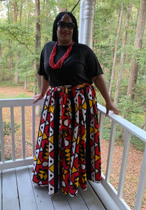 TNT RED FUN PRINT SKIRT
