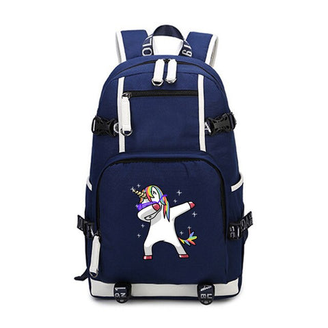 Dabbing Sunglasses Unicorn Padded Laptop Backpack