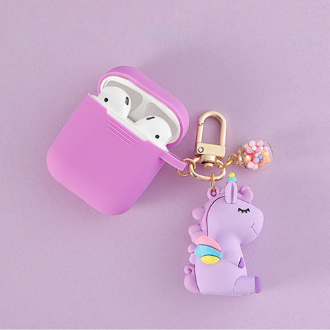 Dream Unicorn AirPods Silicone Case Cover with Keychain