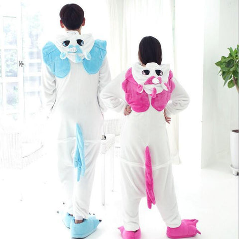 Back of Adult Unicorn Onesie