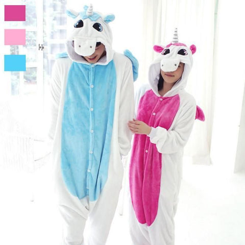 Adult White Unicorn Onesie Costume / Pajamas