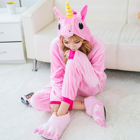 Adult Colored Unicorn Onesie Costume / Pajamas