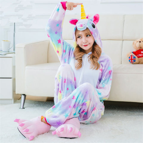 Adult Purple Rainbow Unicorn Constume