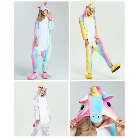 Adult Unicorn Onesie Costume Rainbow Designs