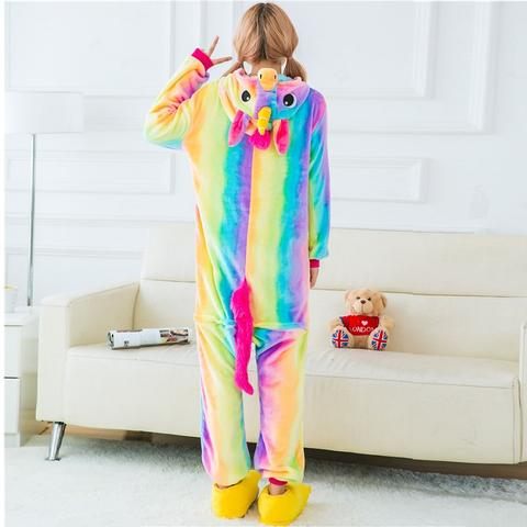 Back of Yellow Rainbow Unicorn Onesie