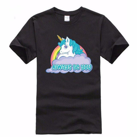 Always Be You Men's Unicorn T-Shirt-100 Unicorns