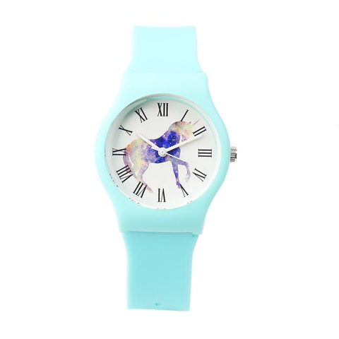 Baby Blue Unicorn Women's Watch-100 Unicorns