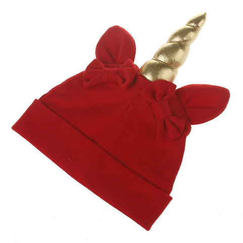 Red Baby Unicorn Winter Hat