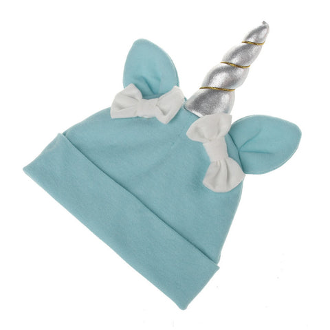Blue Baby Unicorn Beanie Hat