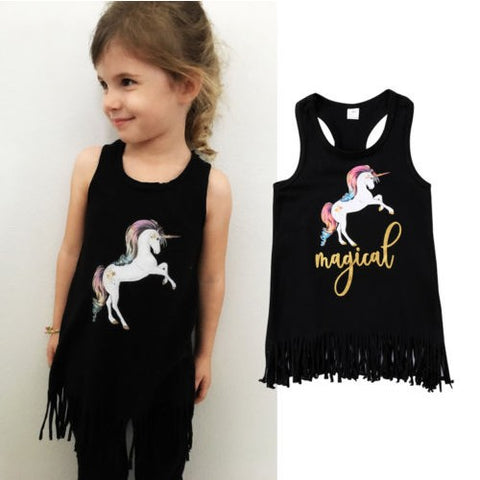 Black Girls Unicorn Sun Dress