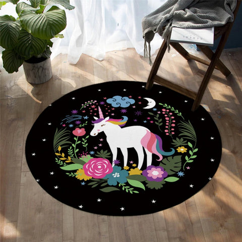 Unicorns Are Real Round Floor Mat Rug
