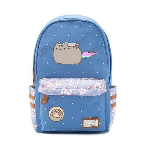 Blue Cat Unicorn Backpack