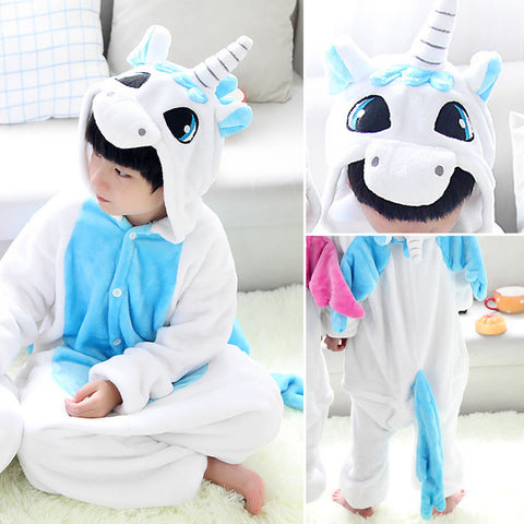 Kids White Unicorn Onesie Costume / Pajamas