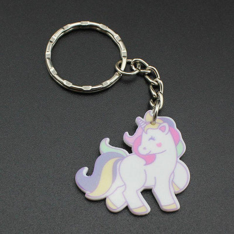 Cute Pink Unicorn Keyring-100 Unicorns