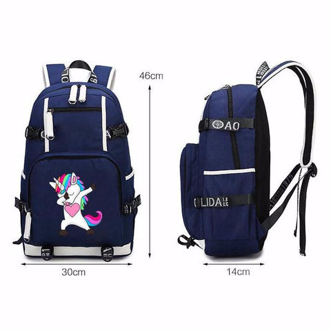 Dabbing Sunglasses Unicorn Padded Laptop Backpack-100 Unicorns