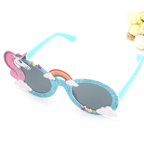 Fun Shiny Blue Unicorn Sunglasses-100 Unicorns