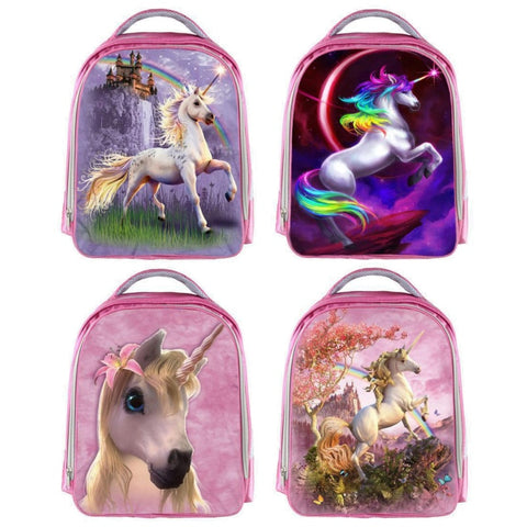 Girls Majestic Unicorn Print Backpack