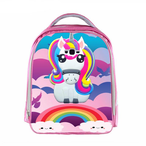 Girls Rainbow Unicorn Backpack