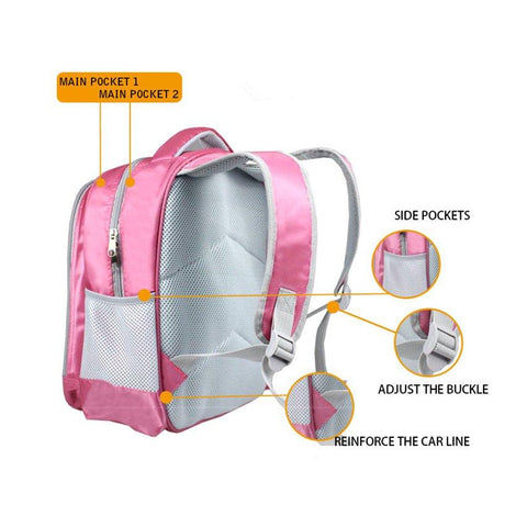 Striped Unicorn Backpack Exterior