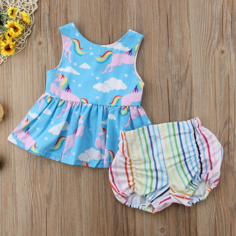 Rainbow Unicorn Sun Dress Outfit