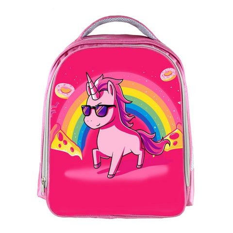 Funny Hot Pink Unicorn Backpack