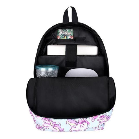 Inside Unicorn Backpack