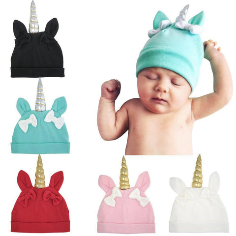 Knitted Baby / Toddler Unicorn Beanie Cap