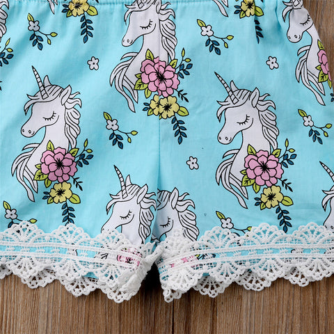 Unicorn Romper Lace Bottoms