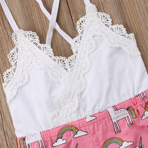 Lace Unicorn Romper Top