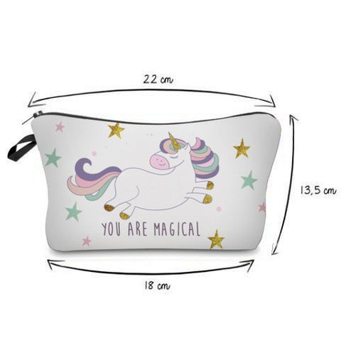 Magical Cartoon Unicorn Cosmetic Bag