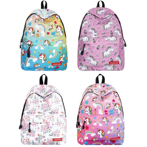 Colorful Patterned Unicorn Backpack