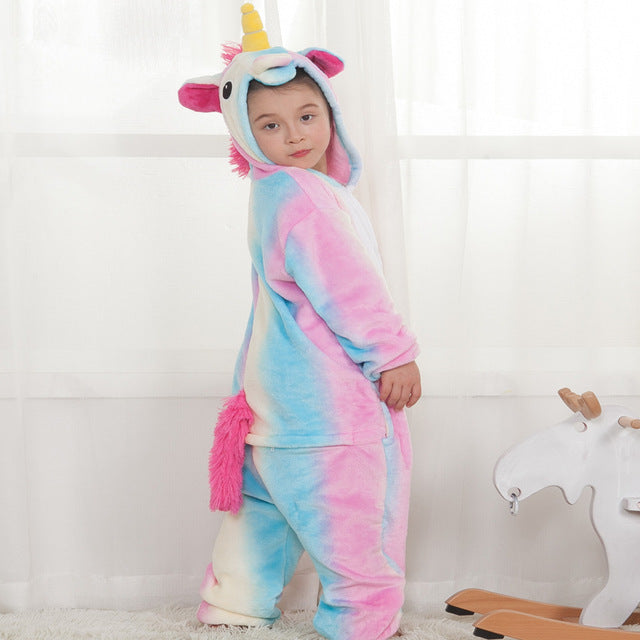 427405e4a078 Kids Rainbow Unicorn Onesie Costume   Pajamas - 100 Unicorns