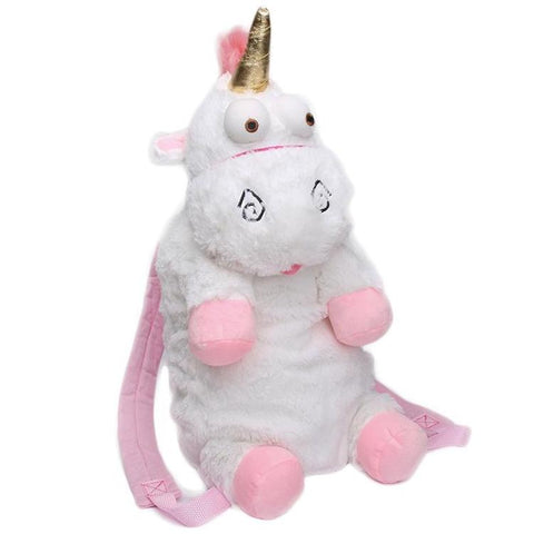 Fluffy Plush Stuffed Unicorn Backpack
