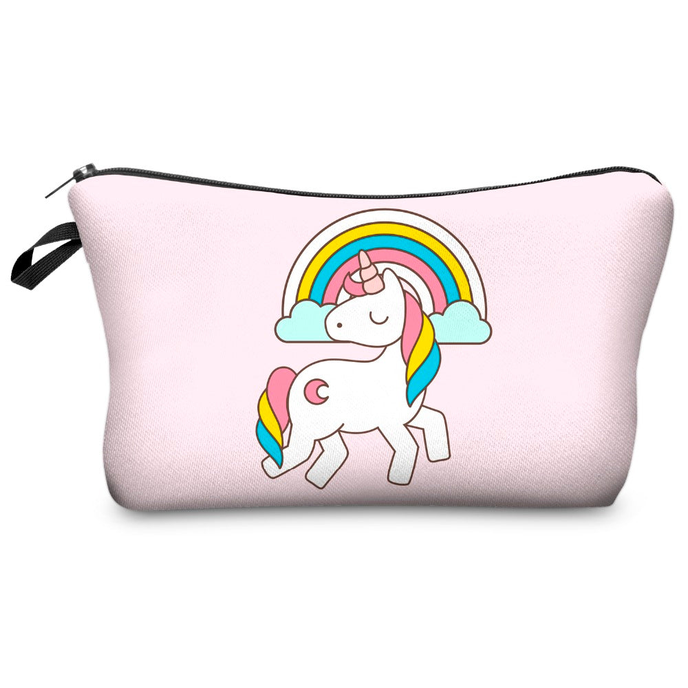 Prancing Rainbow Unicorn Cosmetic Bag