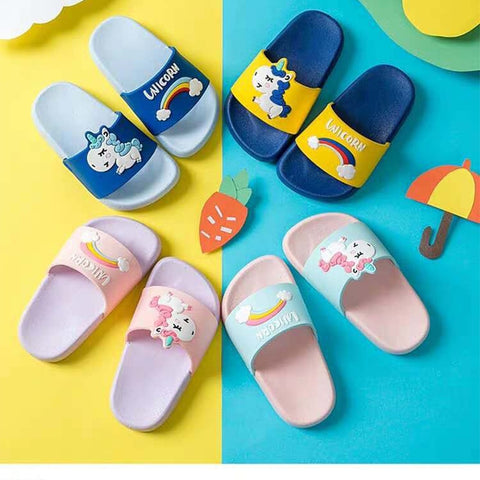 Cute Girls Magical Unicorn Flip-Flop Slippers