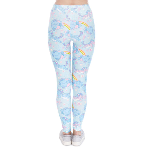 Back of Unicorn Cloud Leggings