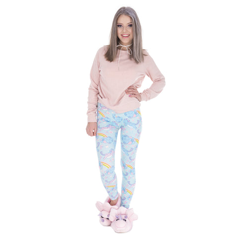 Cartoon Unicorn Leggings Model