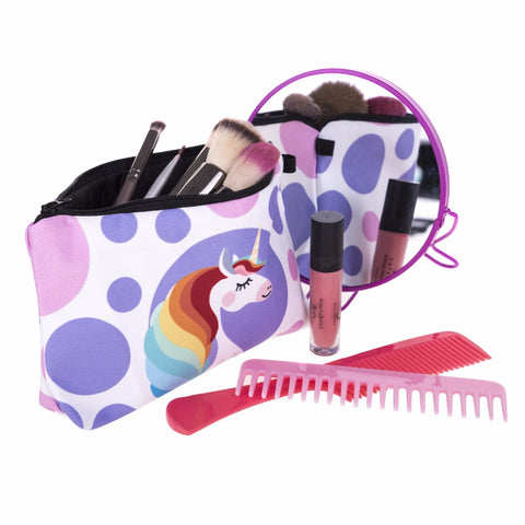 Makeup in Unicorn Cosmetic Bag