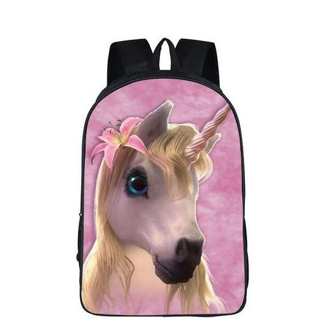Majestic Unicorn Print Backpack