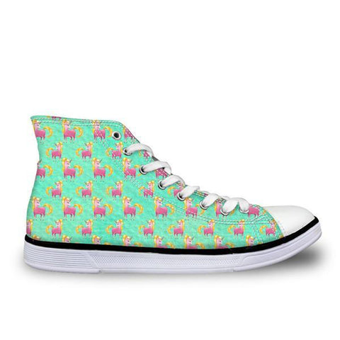 Green Canvas High Top