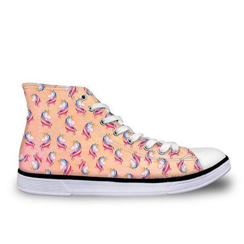 Orange Unicorn High Top
